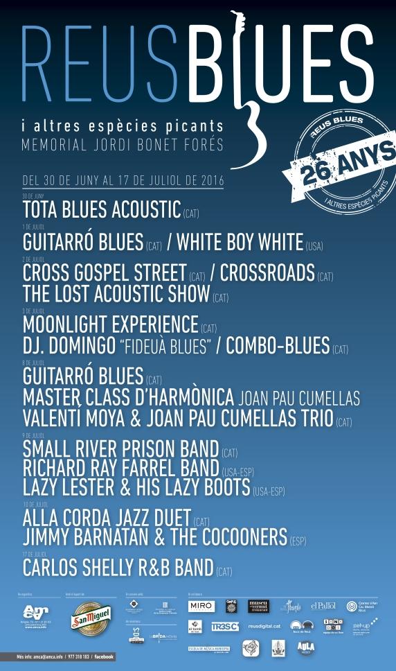 Cartell Blues 2016 reus festival
