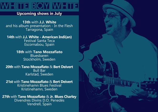 july concerts White Boy White